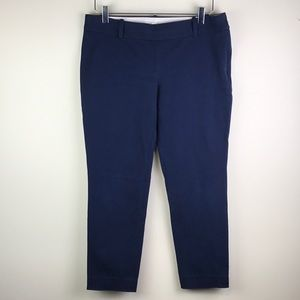 J. Crew Navy Stretch Crop Size 8